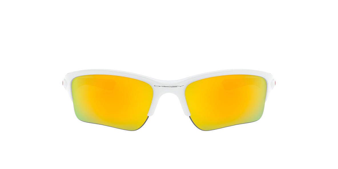 OAKLEY White OO9200 QUARTER JACKET Yellow lenses 61mm
