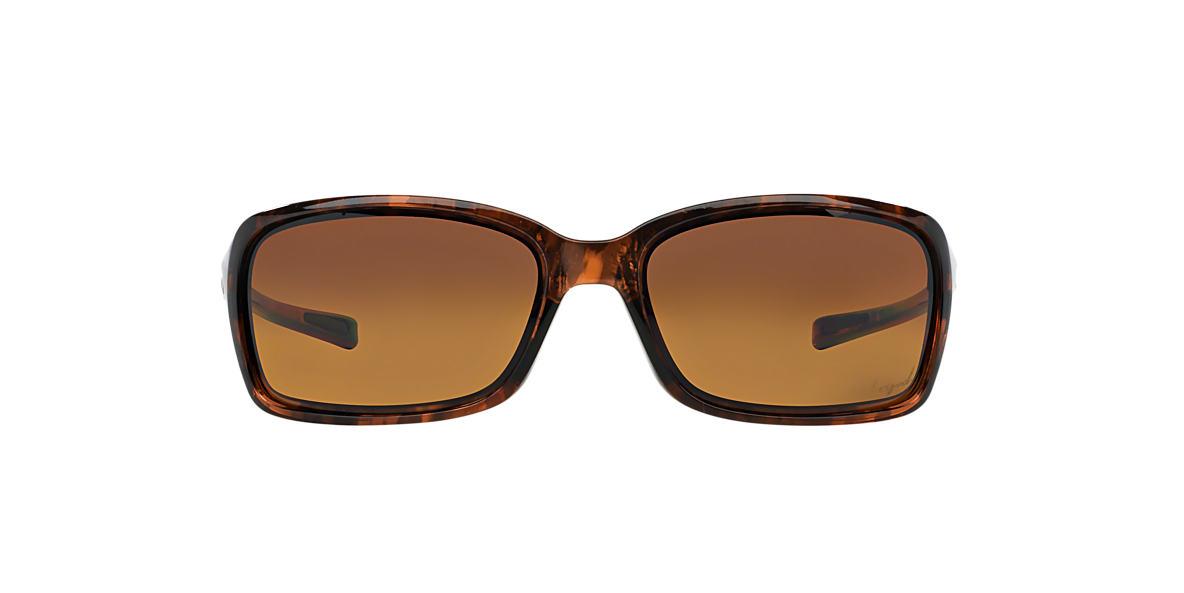 OAKLEY WOMENS Tortoise OO9233 DISPUTE Brown polarized lenses 60mm