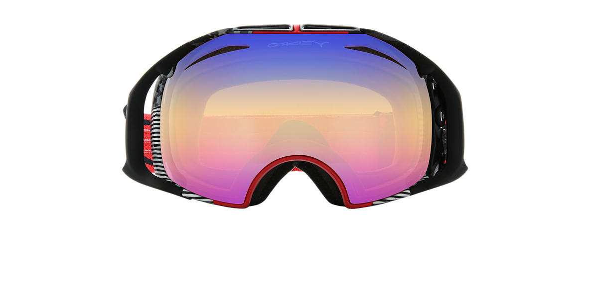 OAKLEY GOGGLES Red OO7037 00 AIRBRAKE Black lenses mm