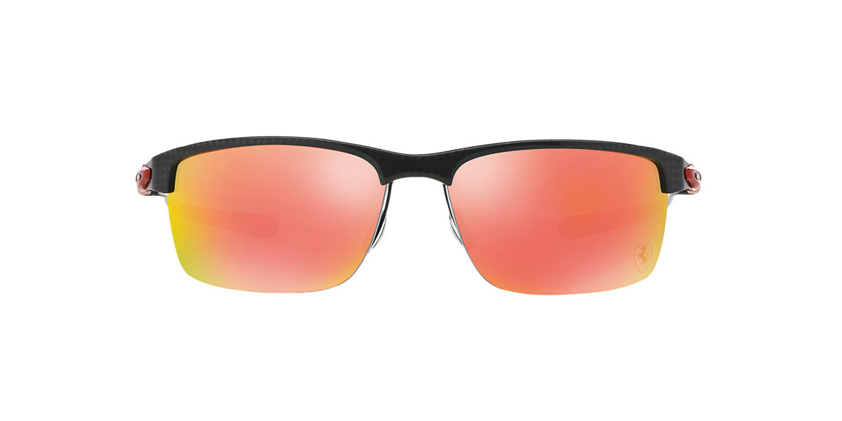 OAKLEY Silver OO9174 Red polarised lenses 66mm