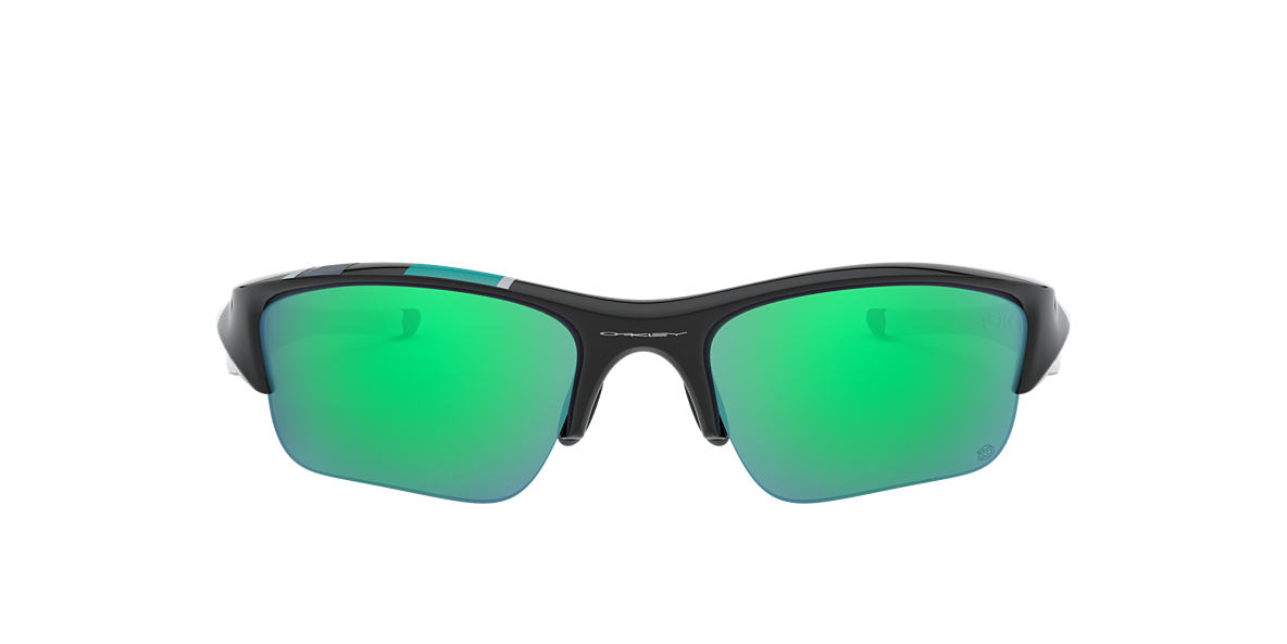 OAKLEY Black OO9011 FLAK JACKET XLJ Green lenses 63mm