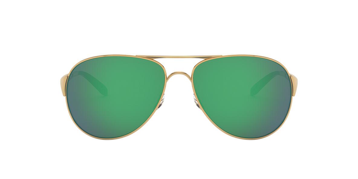 OAKLEY WOMENS Gold Shiny OO4054 CAVEAT Green lenses 60mm