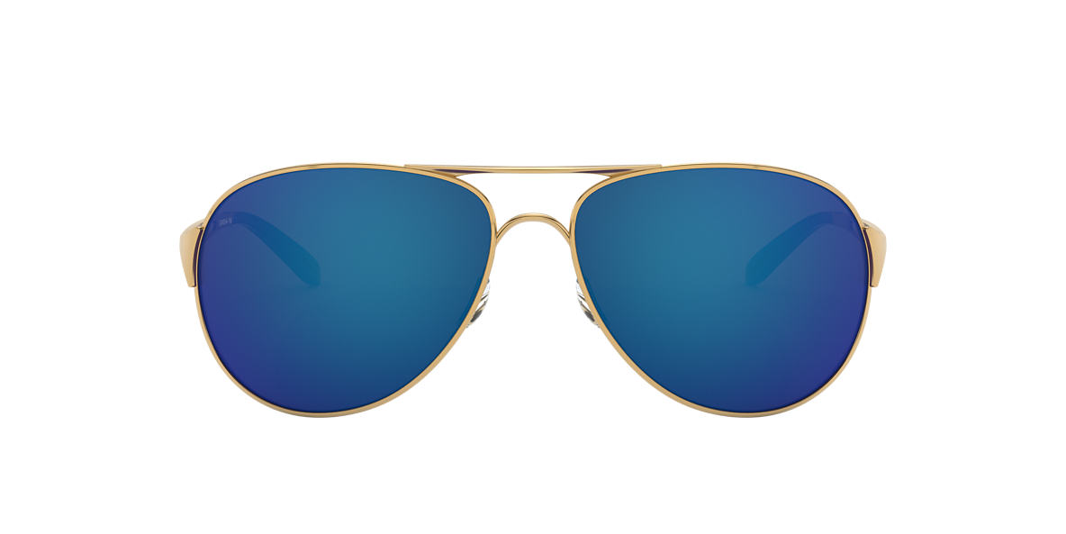OAKLEY WOMENS Gold Shiny OO4054 CAVEAT Blue lenses 60mm