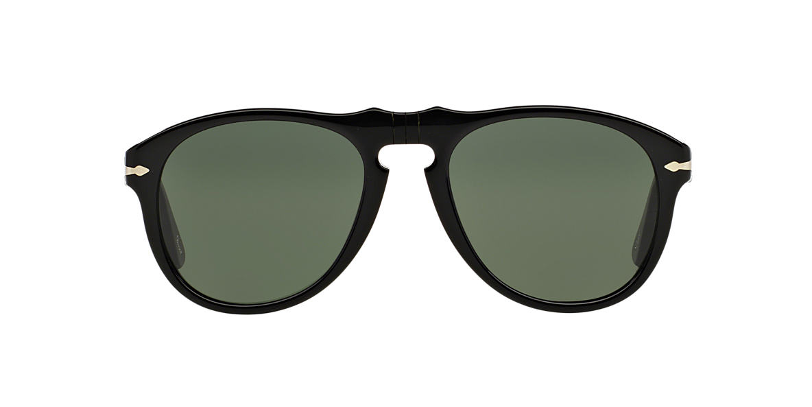 PERSOL Black PO0649 Green lenses 56mm