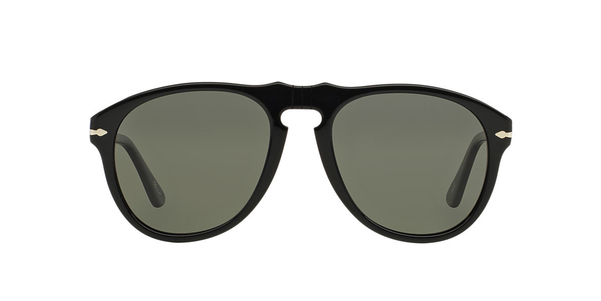 PERSOL Black PO0649 54 Green polarized lenses 54mm