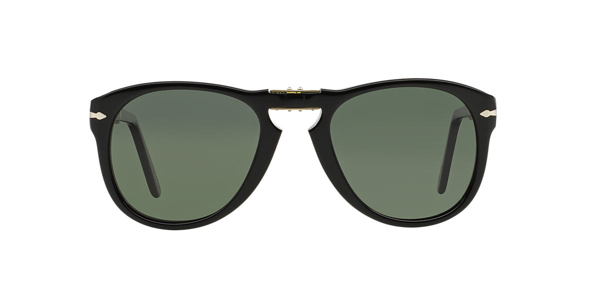PERSOL Black PO0714 Green polarised lenses 54mm