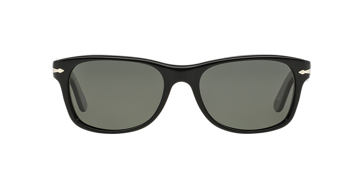 PERSOL Black Shiny PO2953 53 Green polarized lenses 53mm