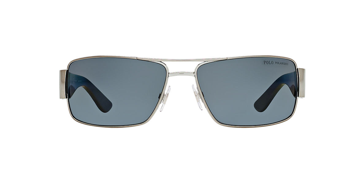 POLO RALPH LAUREN Gunmetal PH3041 Grey polarized lenses 64mm
