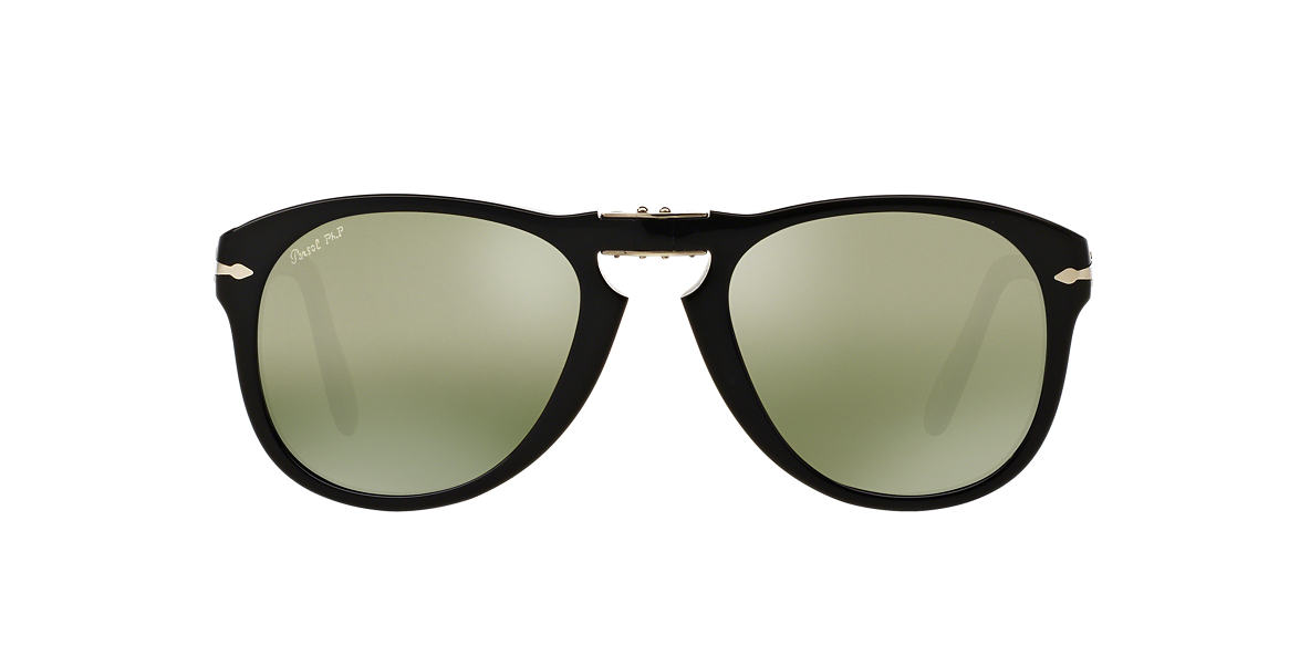 PERSOL Black Shiny PO0714SM (54) Green polarized lenses 54mm