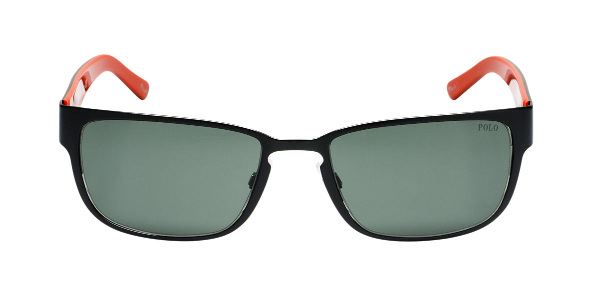 POLO RALPH LAUREN Black Matte PH3065 Green lenses 55mm