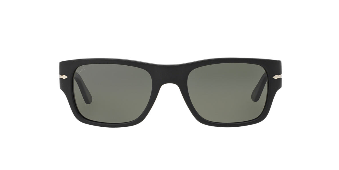 PERSOL Black PO3021S Green polarised lenses 53mm