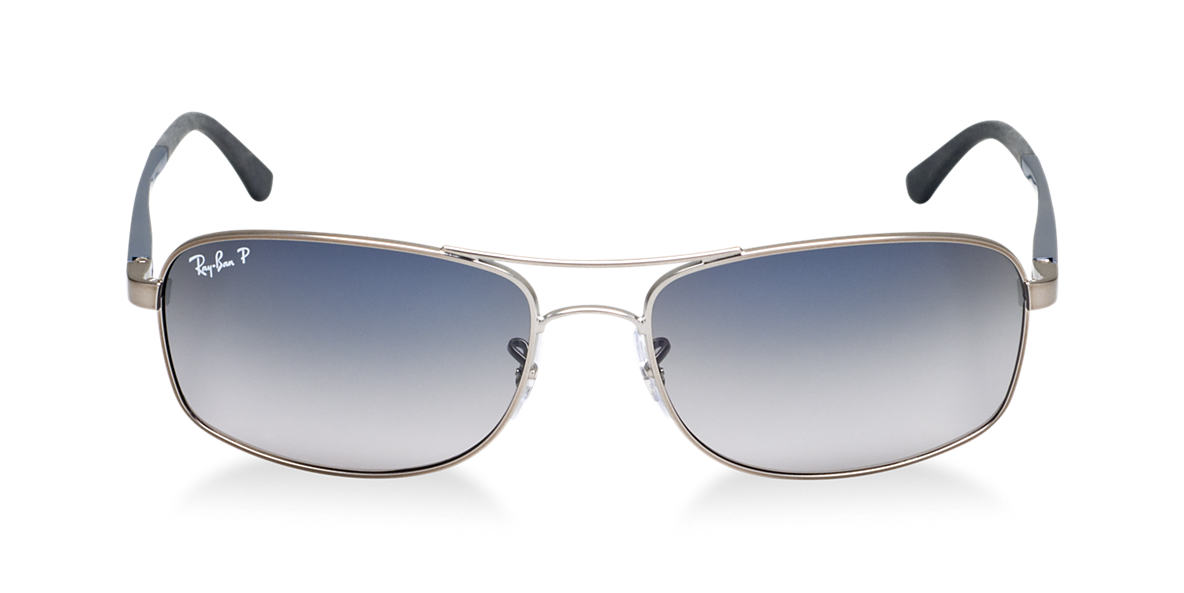 RAY-BAN Blue RB3484 60 Grey polarized lenses 60mm