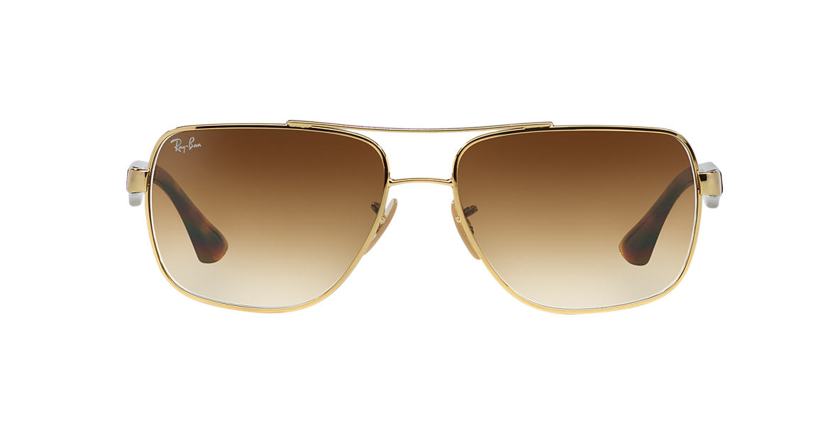 RAY-BAN Gold RB3483 60 Brown lenses 60mm