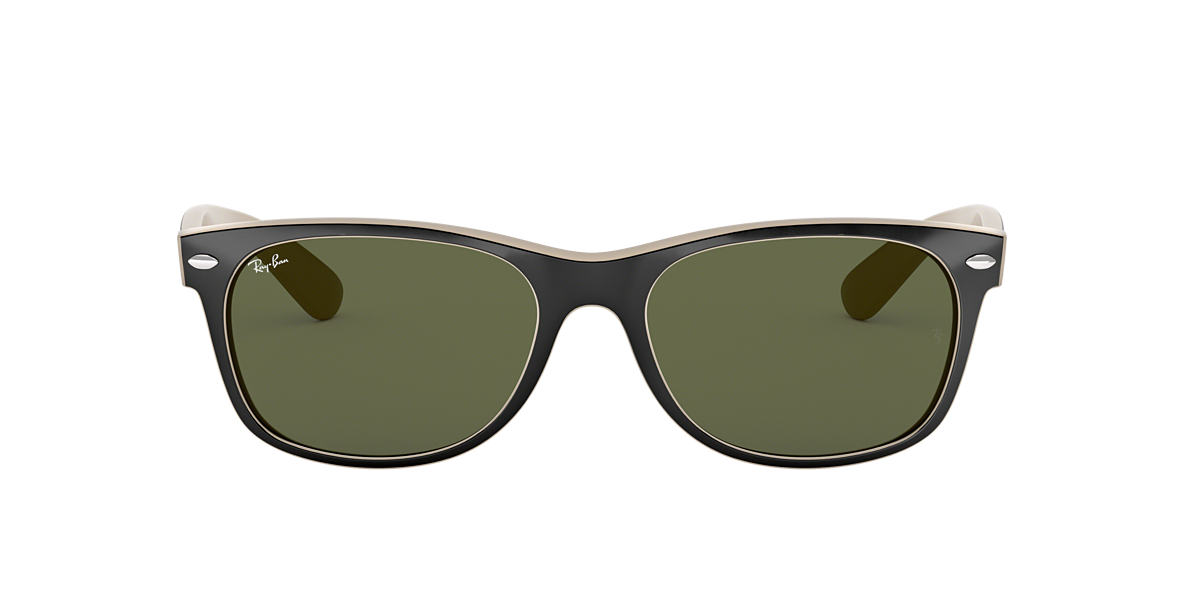 RAY-BAN Brown RB2132 52 NEW WAYFARER Green lenses 52mm