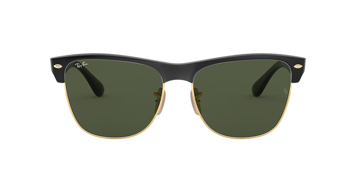 RAY-BAN Black RB4175 57 CLUBMASTER OVERSIZED Green lenses 57mm