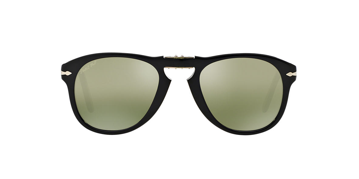 PERSOL Black PO0714 52 Green polarized lenses 52mm