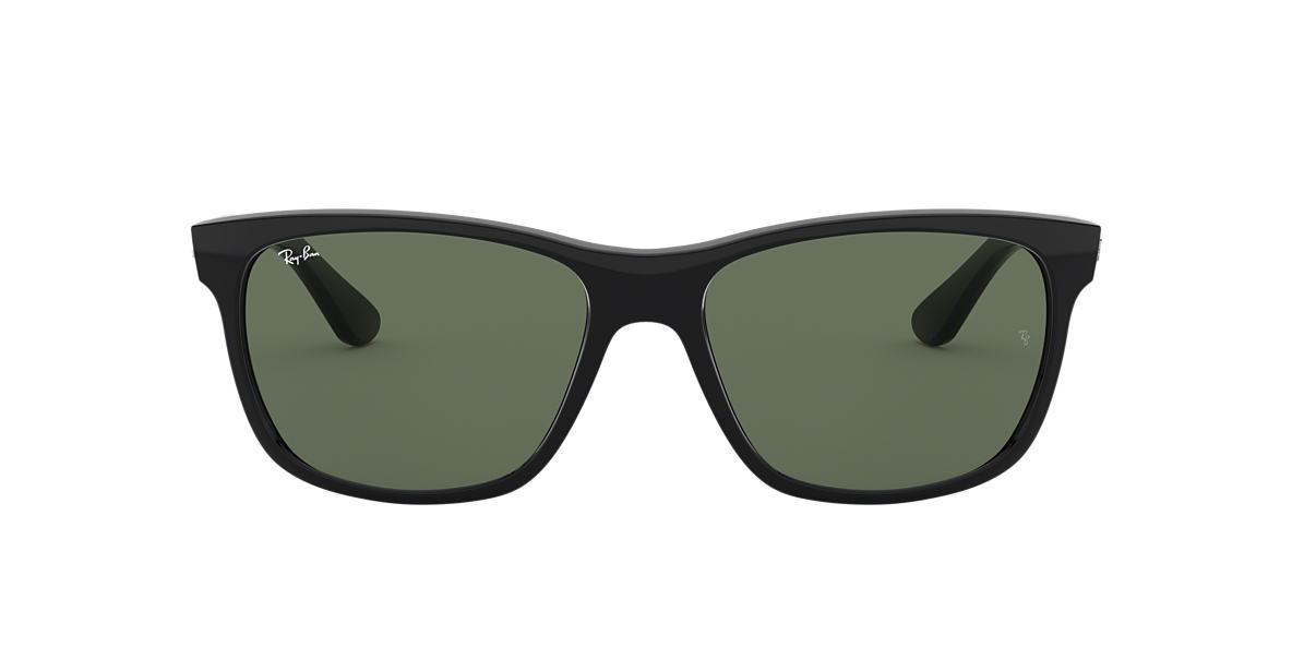 RAY-BAN Black RB4181 57 Green lenses 57mm