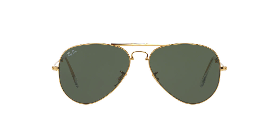 RAY-BAN Gold RB3479 Green lenses 58mm
