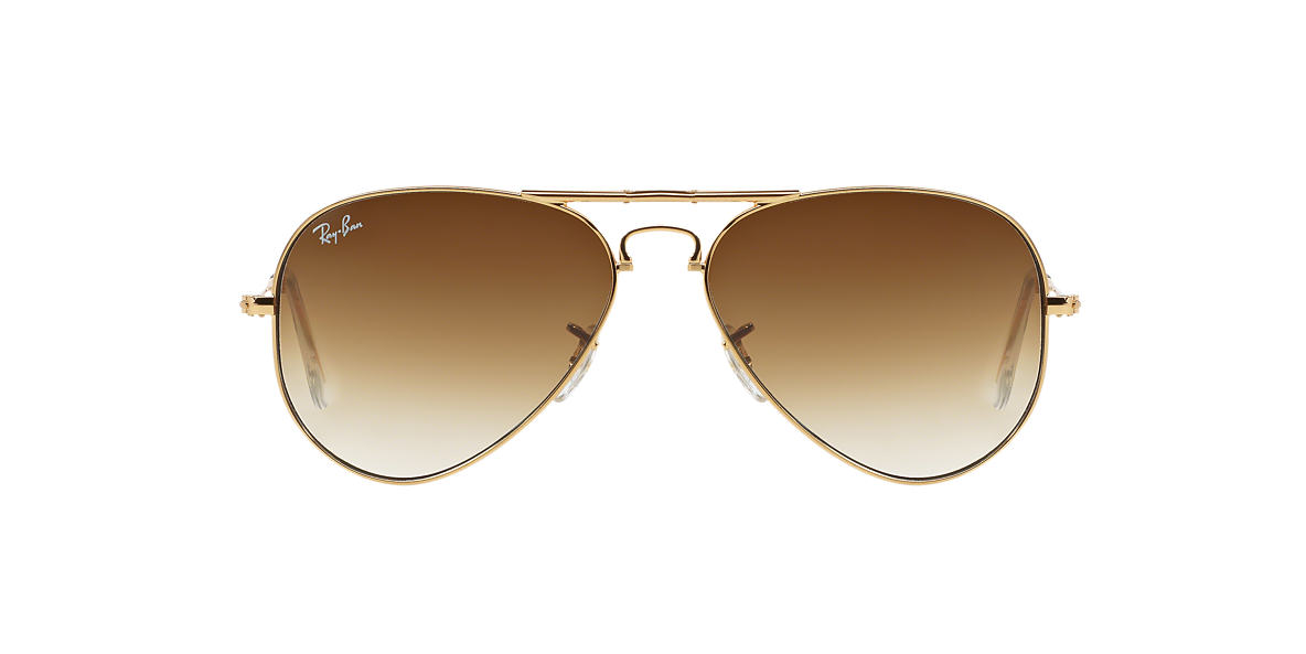 RAY-BAN Gold RB3479 58 AVIATOR FOLDING Brown lenses 58mm