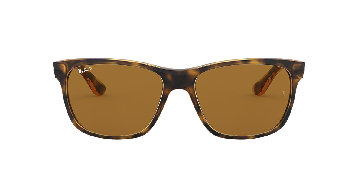 RAY-BAN Tortoise RB4181 57 Brown polarized lenses 57mm