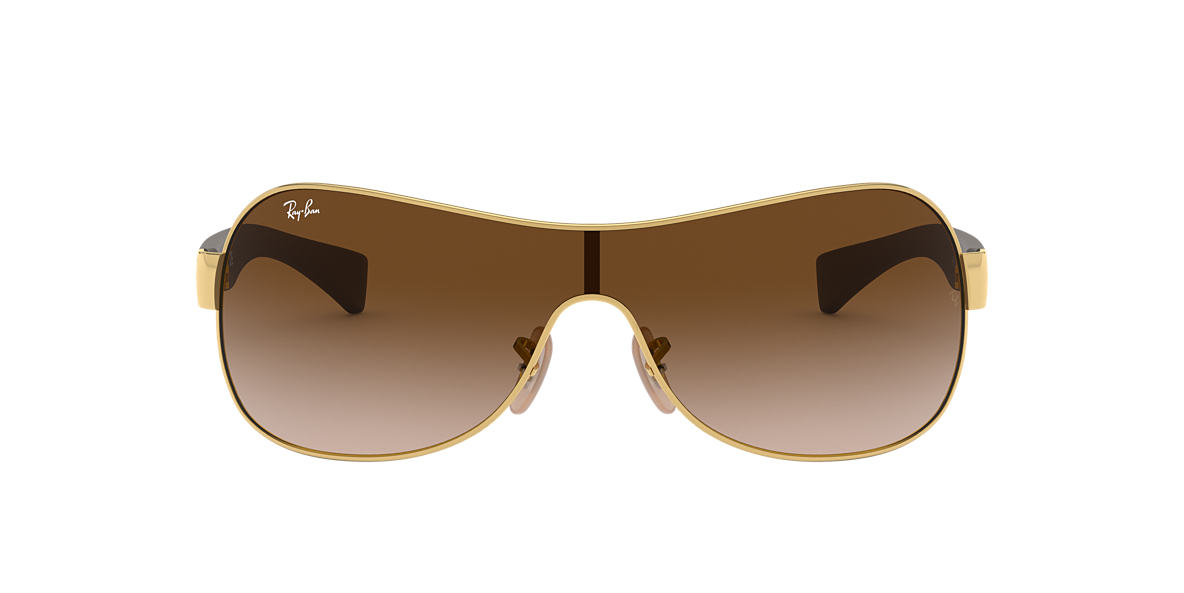RAY-BAN Gold RB3471 Brown lenses 13mm