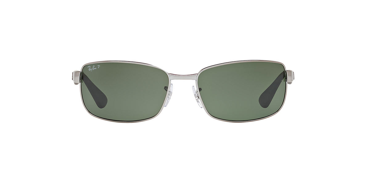 RAY-BAN Gunmetal RB3478 63 Green polarized lenses 63mm