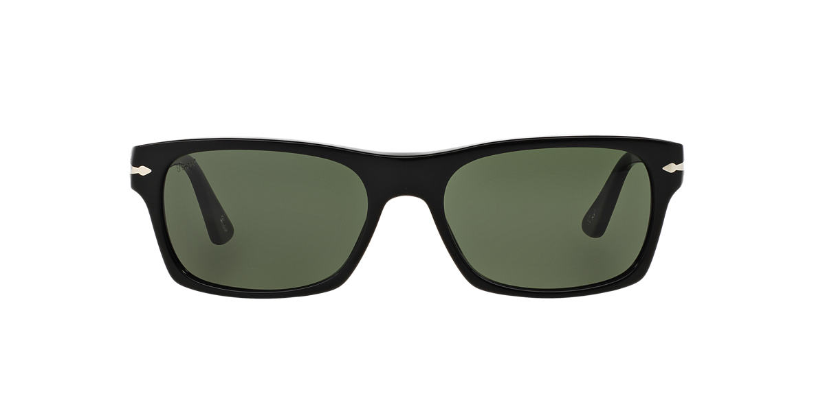 PERSOL Black PO3037S 57 Green lenses 57mm