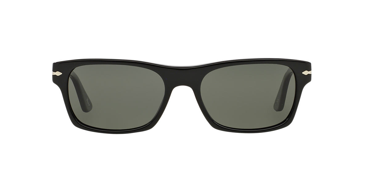PERSOL Black PO3037S Green polarized lenses 54mm
