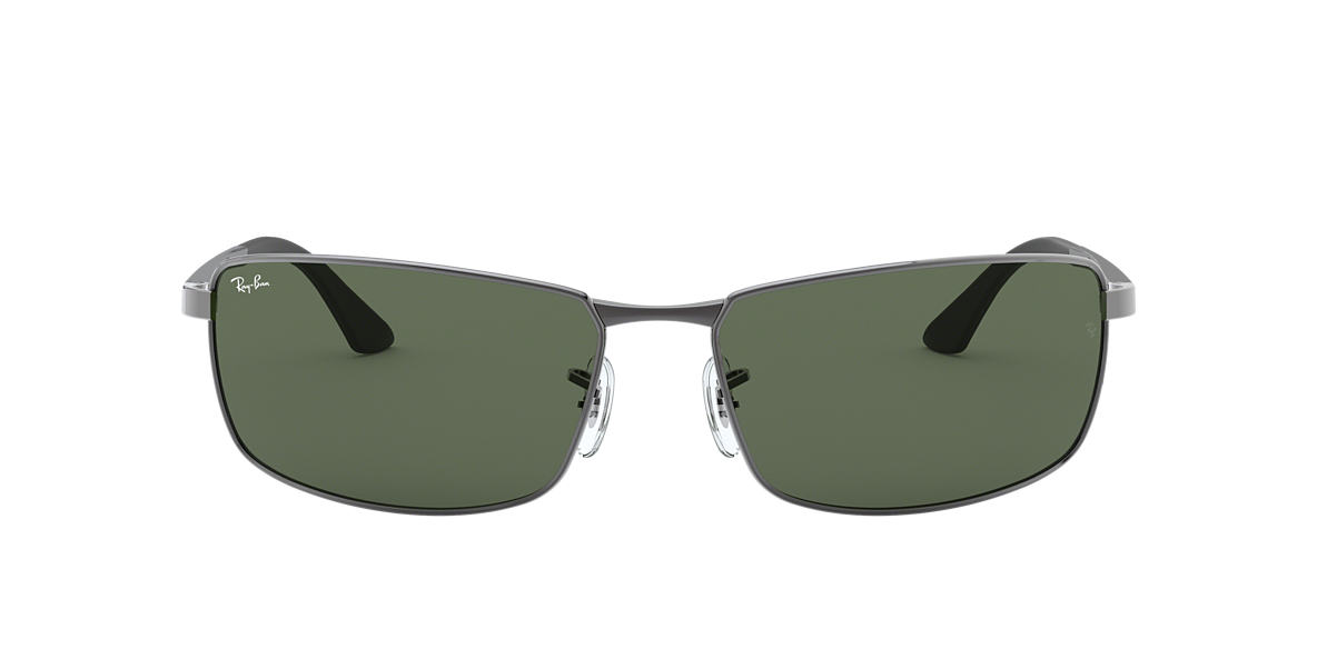 RAY-BAN Gunmetal RB3498 61 Green lenses 61mm