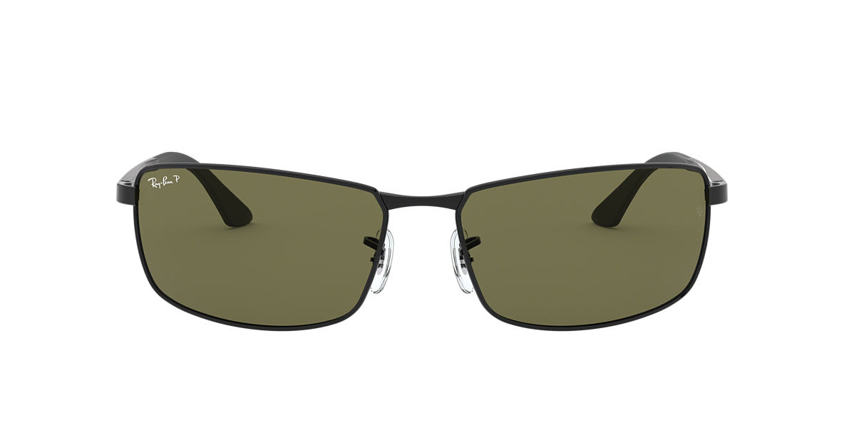 RAY-BAN Black RB3498 61 Green polarized lenses 61mm