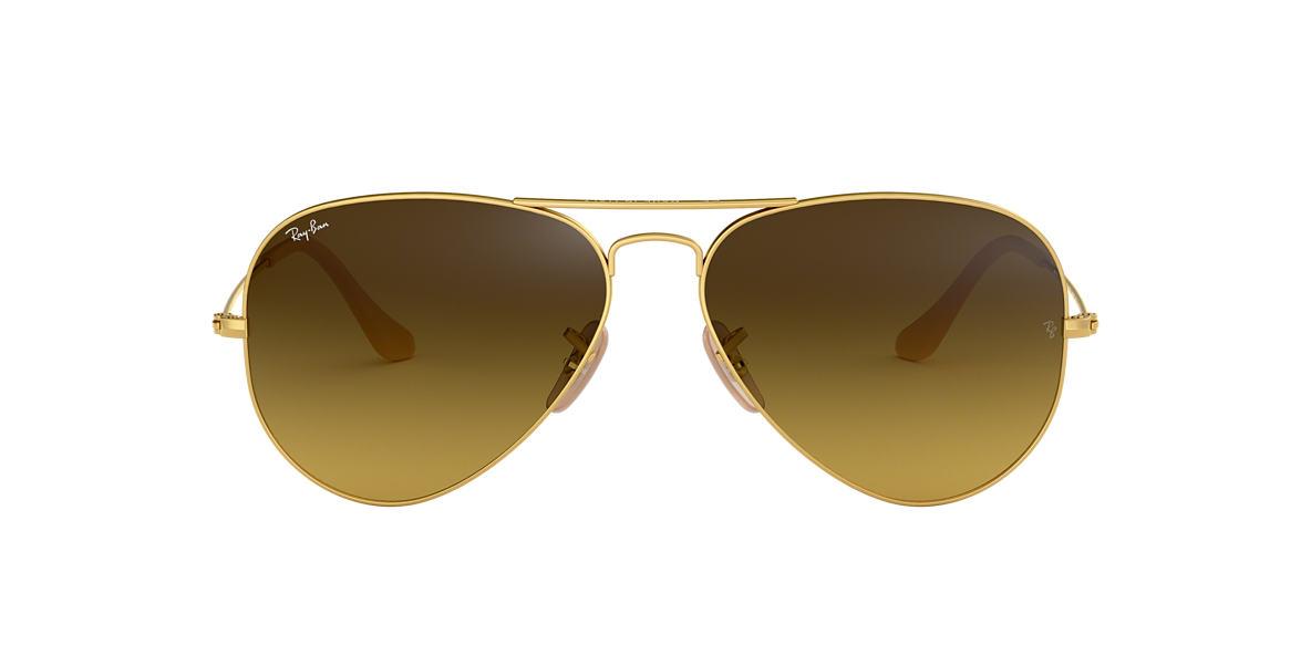 ray ban aviator sunglasses brown rb3025  ray ban rb3025 58 original aviator 58 brown & gold matte sunglasses