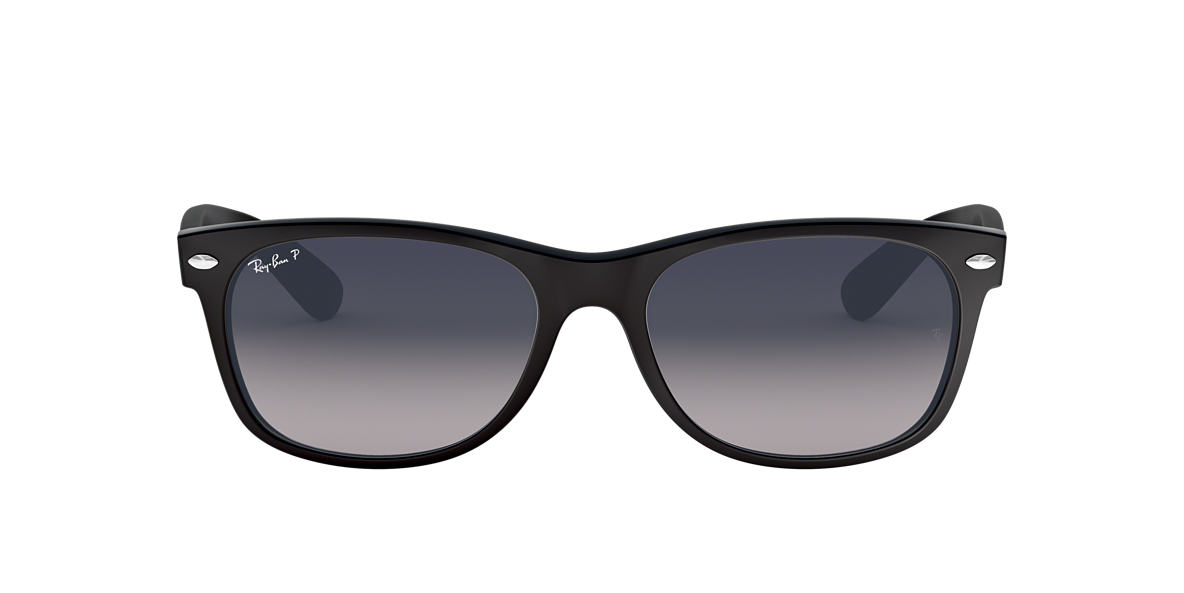RAY-BAN Black RB2132 Blue polarised lenses 55mm