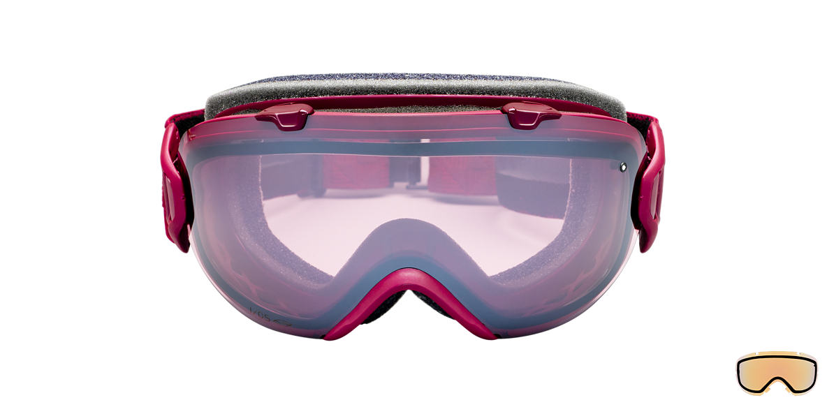 SMITH OPTICS GOGGLES Red I/OS MERLOT MOTIF Pink lenses mm