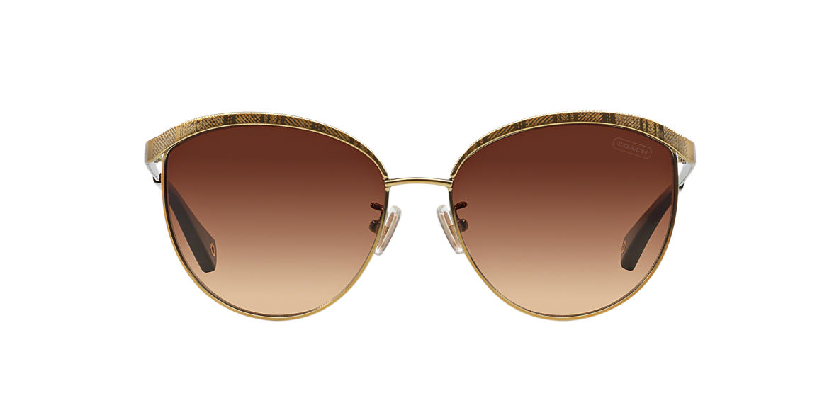 COACH Gold HC7027 CATRICE Brown lenses 56mm