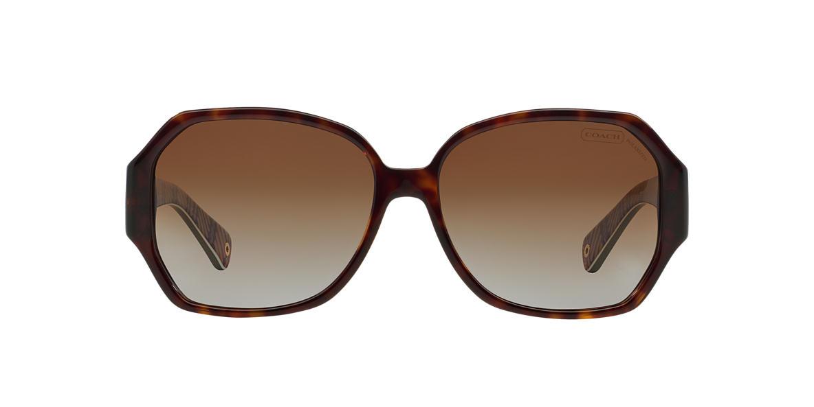 COACH Tortoise HC8062 MELISSA Brown polarized lenses 58mm
