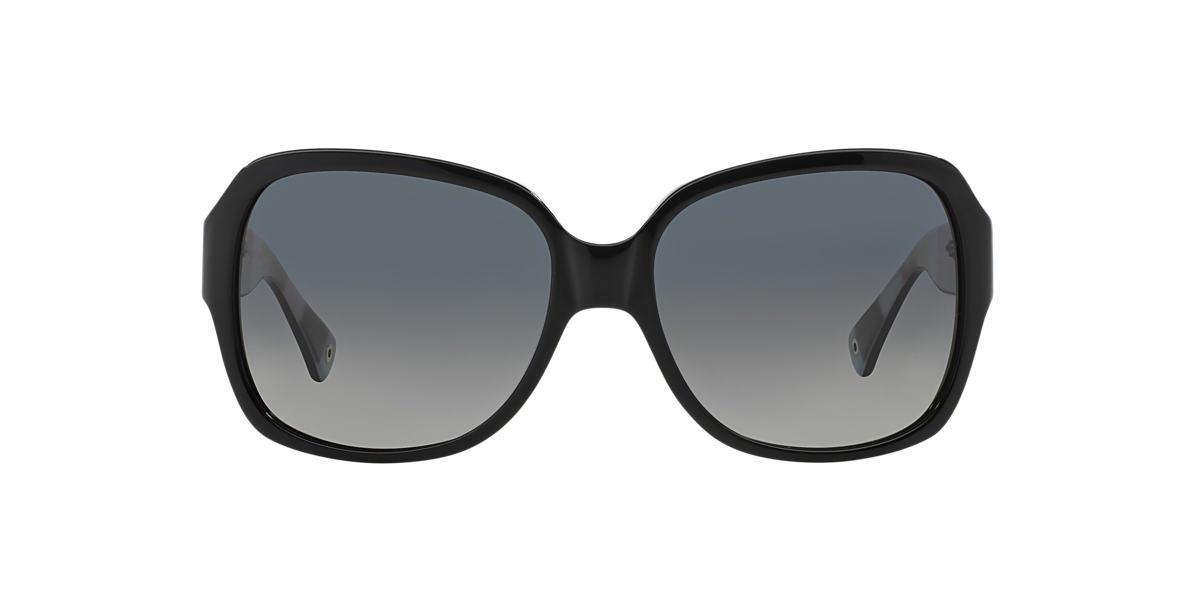 COACH Black HC8043 BRIDGET Grey polarized lenses 59mm
