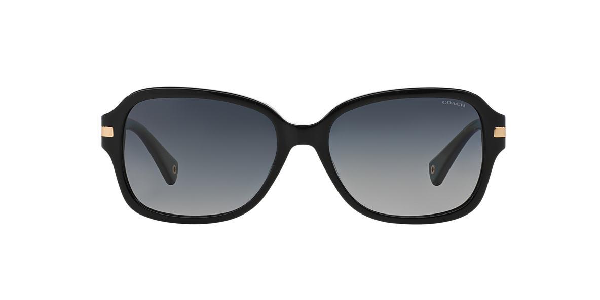 COACH Black HC8105 AMBER Grey polarized lenses 58mm