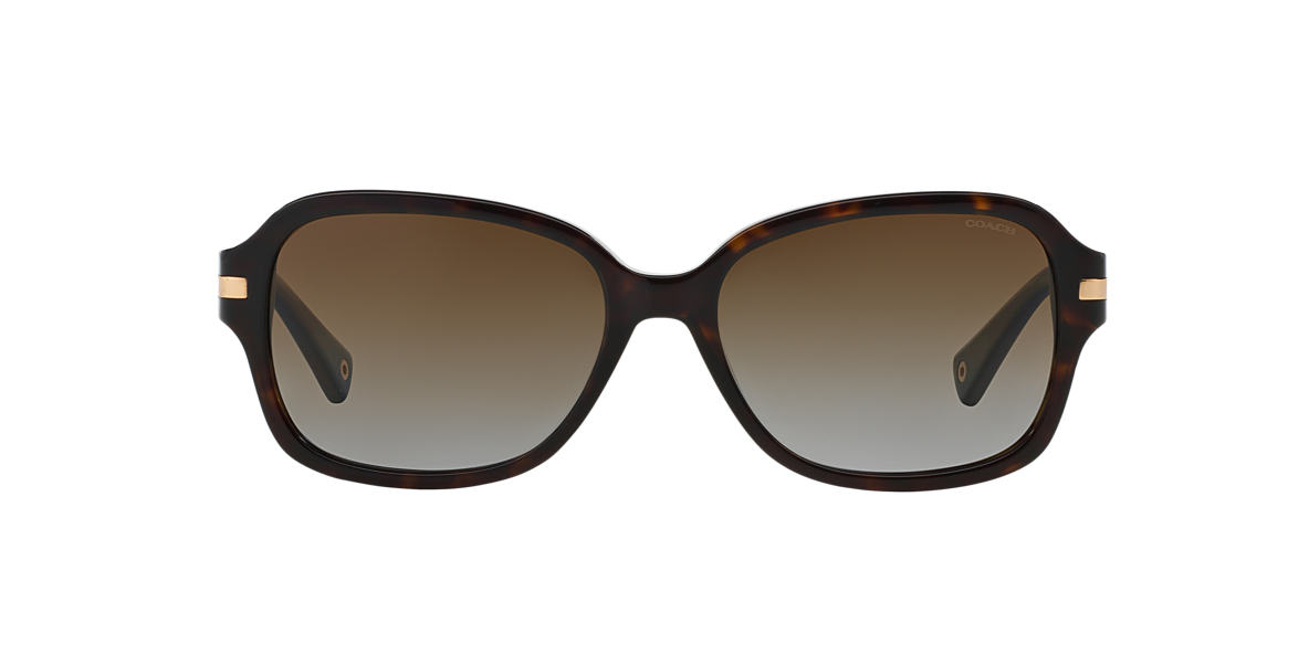 COACH Black HC8105 Brown polarised lenses 58mm