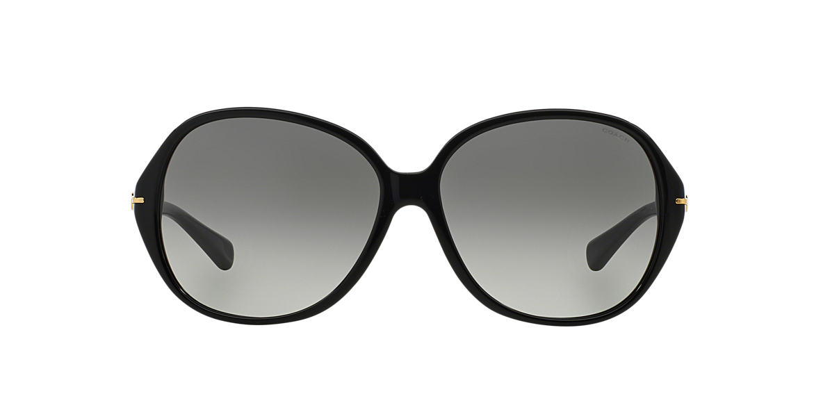 COACH Black HC8118 60 L089 BAILEY Grey lenses 60mm