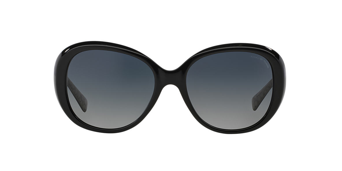 COACH Black HC8120 57 Grey polarized lenses 57mm