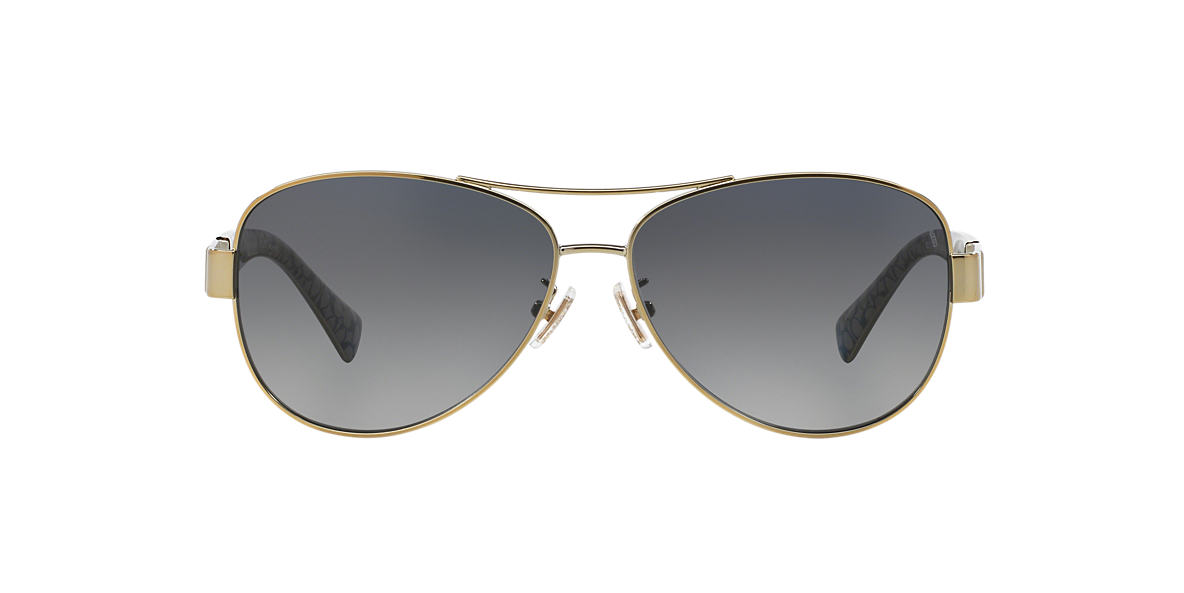 COACH Gold HC7047 59 Grey polarized lenses 59mm