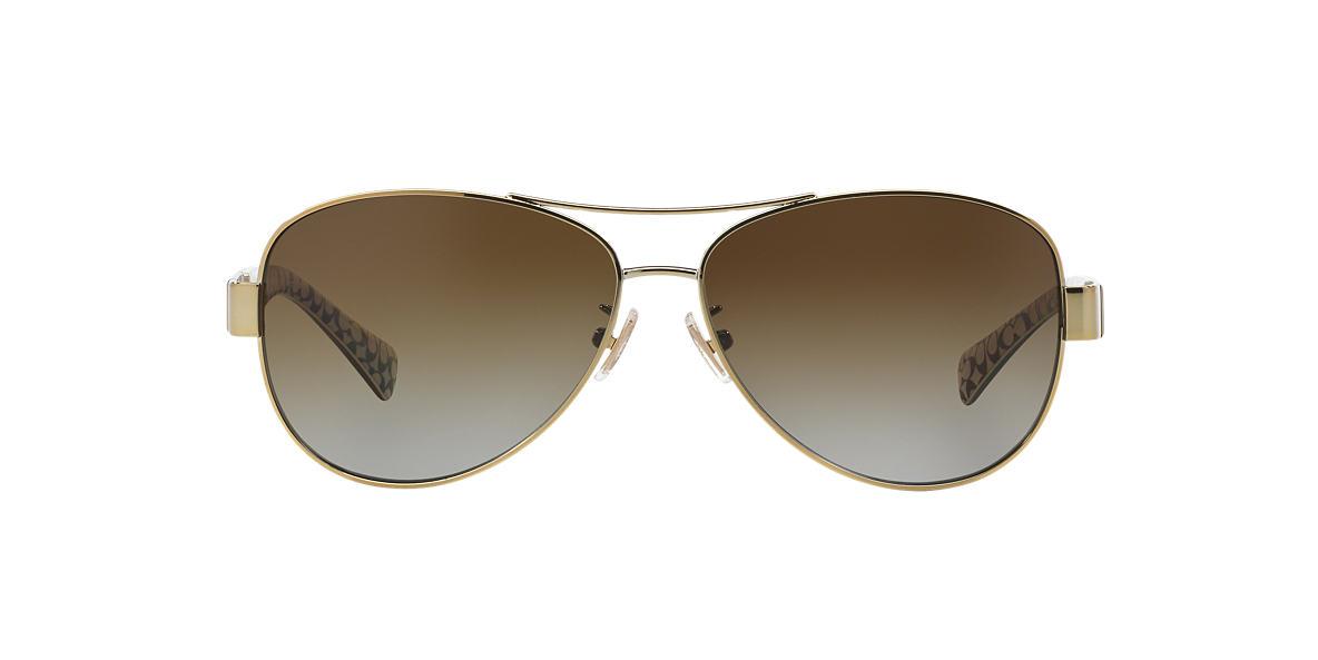 COACH Gold HC7047 59 Brown polarized lenses 59mm