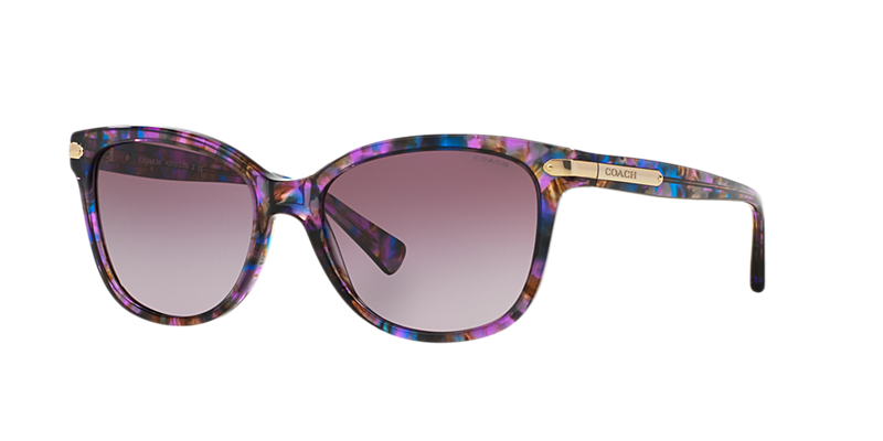 Coach Hc8132 57 L109 Purple Cat Sunglasses