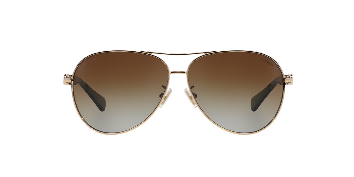 COACH Gold HC7048 59 L107 Brown polarized lenses 59mm