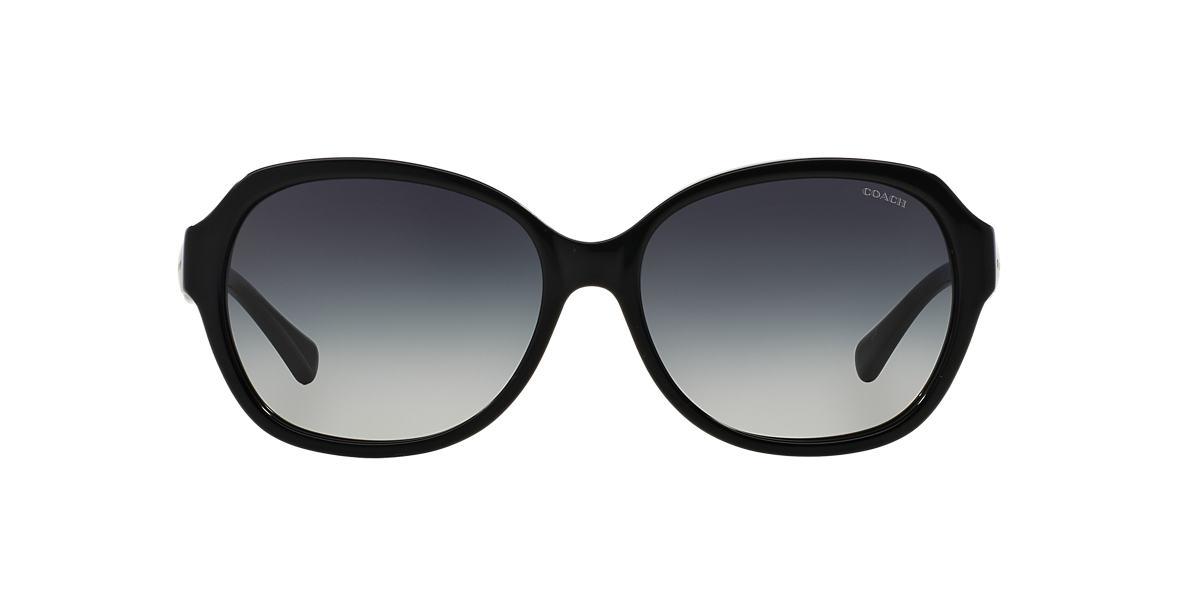 COACH Black HC8150 59 L133 Grey lenses 59mm