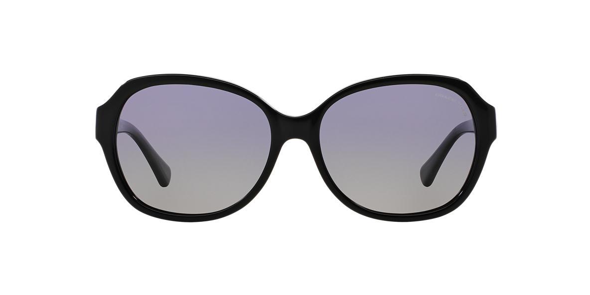 COACH Black HC8150 59 L133 Purple polarized lenses 59mm