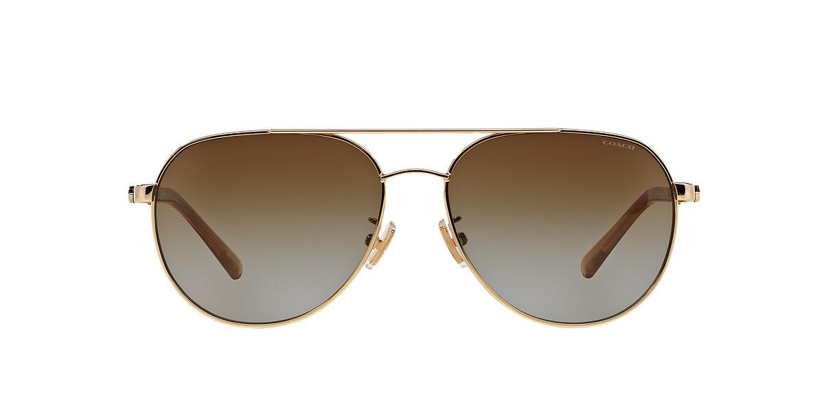 COACH Gold HC7053 58 L137 Brown polarized lenses 58mm