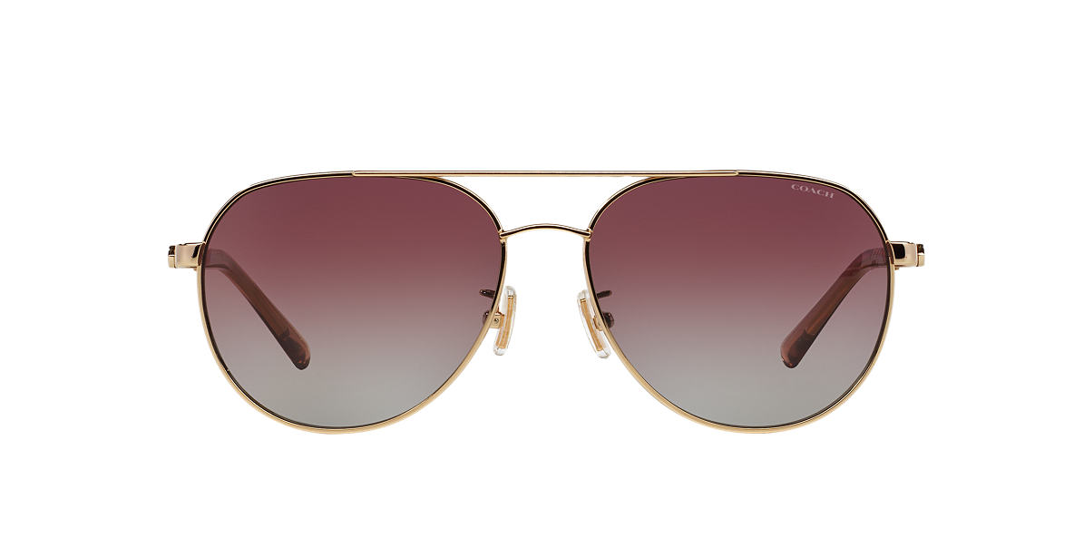 COACH Gold HC7053 58 L137 Red polarized lenses 58mm