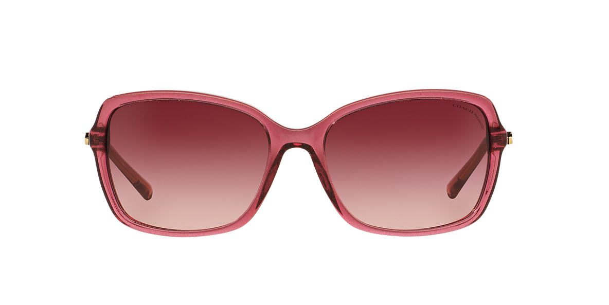 COACH Burgundy HC8152 57 L136 Pink polarized lenses 57mm