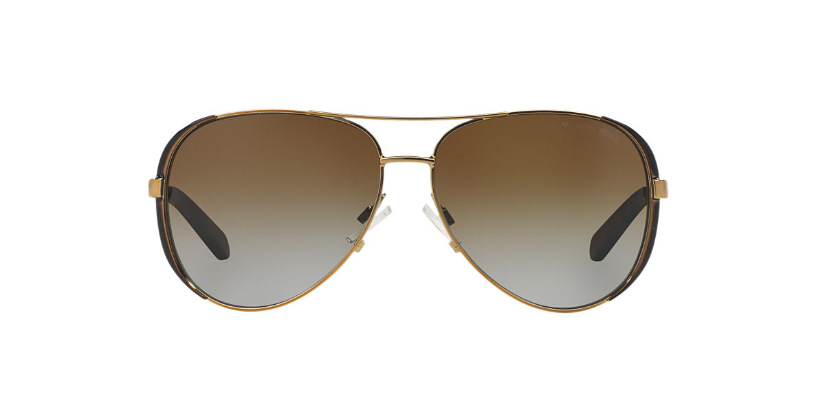 Michael Kors MK5004 CHELSEA 59 Brown & Gold Polarized Sunglasses | Sunglass  Hut USA
